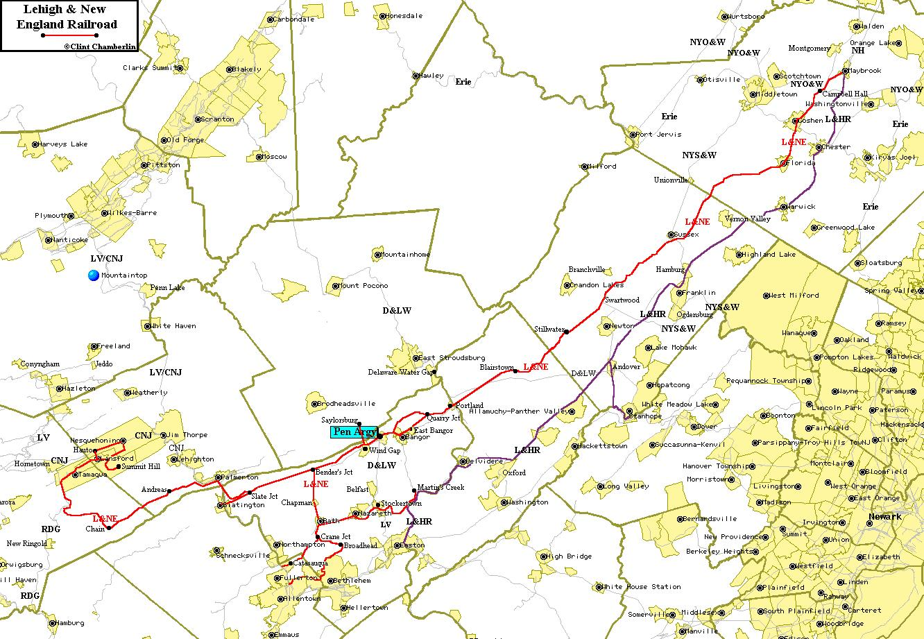 Click On Map For Larger Representation C Clint Chamberlin